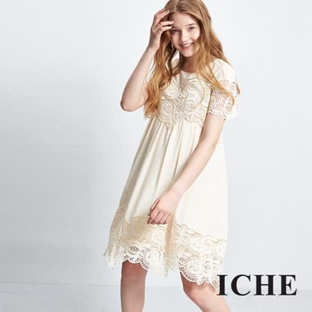 ICHE 衣哲 3D蕾絲雕花造型洋裝