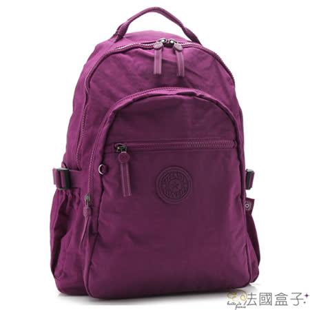 【法國盒子】輕量機能多隔層後背包(紫紅)983
