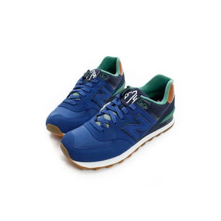 New Balance (女) 經典復古鞋 藍 ML574NEA