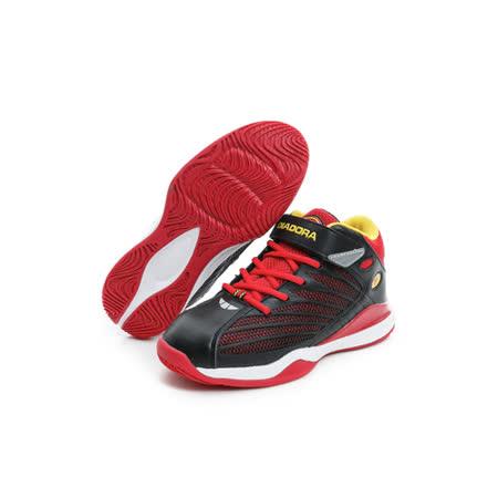 DIADORA (童) 籃球鞋 黑紅 DA6AKB3532