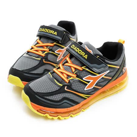 DIADORA (童) 慢跑鞋 深灰橘 DA6AKR3018
