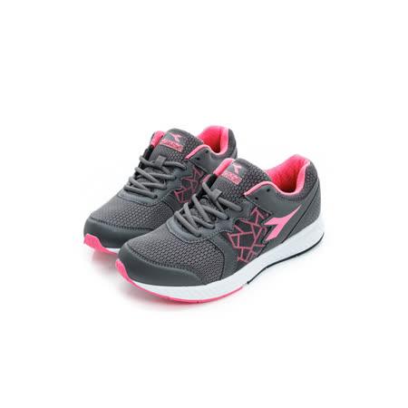 DIADORA (女) 慢跑鞋 灰螢光粉 DA6AWR3398