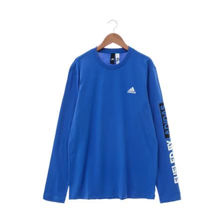 Adidas (男) 圓領T(長) 藍 AY3777