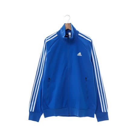 Adidas (男) 棉質--運動外套 藍 AY3771