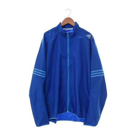 Adidas 男  尼龍防風外套 藍 AX6496