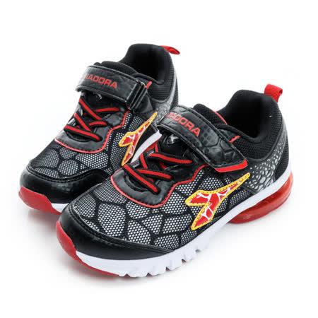 DIADORA (童) 慢跑鞋 黑紅黃 DA6AKR3570