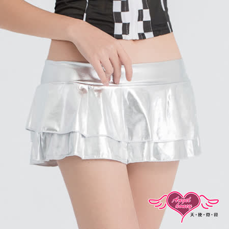 【天使霓裳】裙子 亮閃層次 角色扮演短裙配件(銀F)