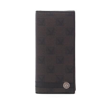 PLAYBOY- Checkerboard Rabbit 紳士棋盤兔系列 翻蓋式長夾-經典黑