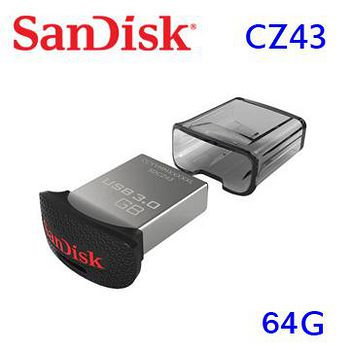 SanDisk 新帝 CZ43 64GB Ultra Fit USB 3.0 高速隨身碟 .