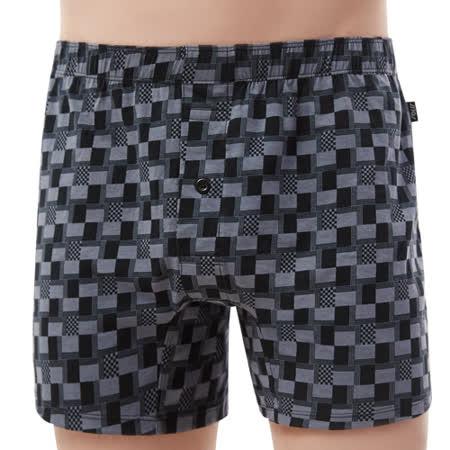 【SOLIS】競速F1系列M-XXL寬鬆印花四角男褲(鑄灰黑)