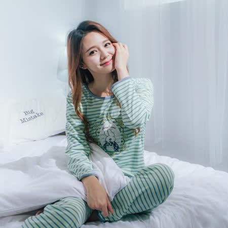Wonderland LN865 夢幻童話棉質居家休閒衣褲組(綠)