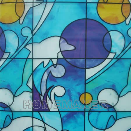 彩繪自黏窗貼-2入_YT-AP045
