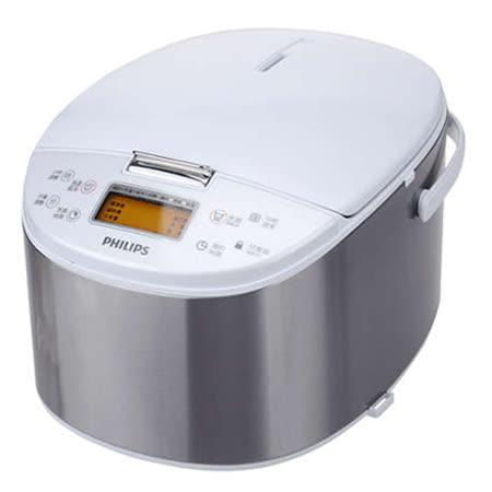 【PHILIPS 飛利浦】10人份觸摸感應型厚釜電子鍋 HD3077