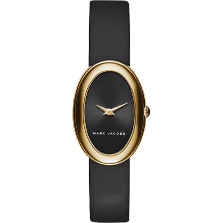 Marc Jacobs clcely 系列名模時尚女錶-黑x金框/22mm MJ1454
