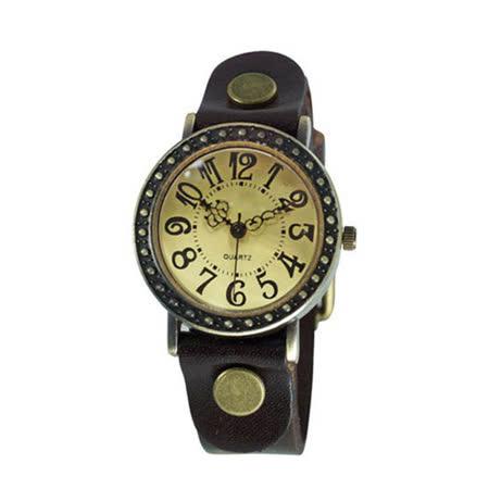 【BOBO】復古哥德式精刻中性錶-棕