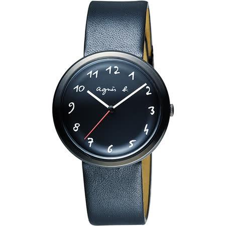 agnes b. 自由的主題時尚腕錶-黑/36mm VJ21-KK50C(BH8031X1)