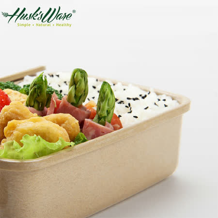 【Husk's ware】美國Husk's ware稻殼天然無毒環保便當盒(小)(2入組)