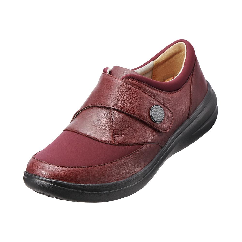 ~Kimo德國品牌 氣墊鞋~真皮扣帶休閒鞋^(氣質紅K15WF071147^)牛皮.網布.