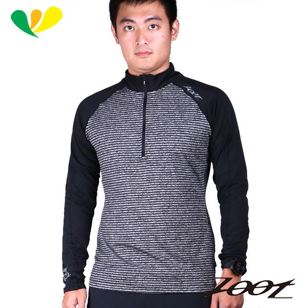 ZOOT 極致型輕肌能壓縮半拉式上衣 男  雅灰黑  Z1604082