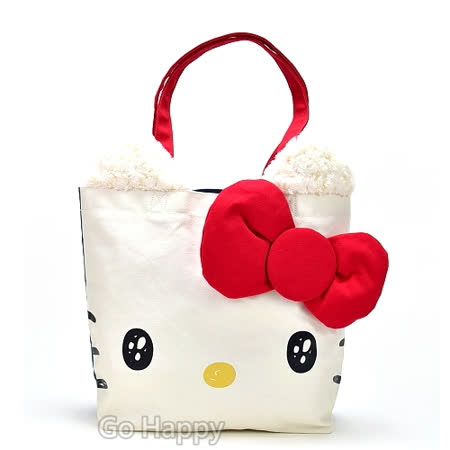 日本進口SANRIO【水汪汪Hello Kitty】肩背帆布包