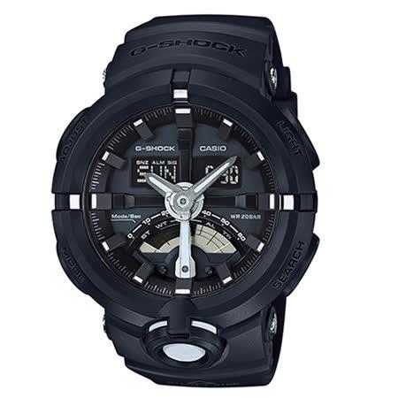 【CASIO 卡西歐】G-SHOCK 公路車齒輪概念設計腕錶(48.9mm/GA-500-1A)