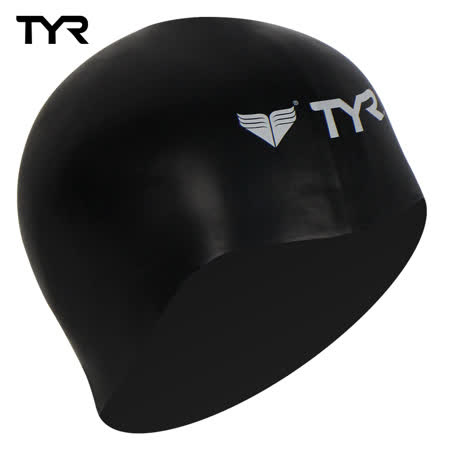 美國TYR 成人用3D矽膠泳帽 Solid Silicone Black 台灣總代理