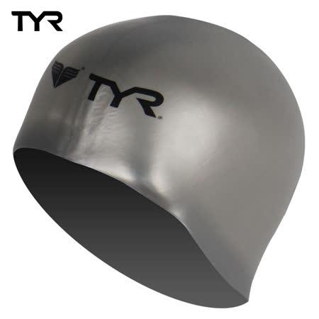 美國TYR 成人用3D矽膠泳帽 Solid Silicone Siliver 台灣總代理