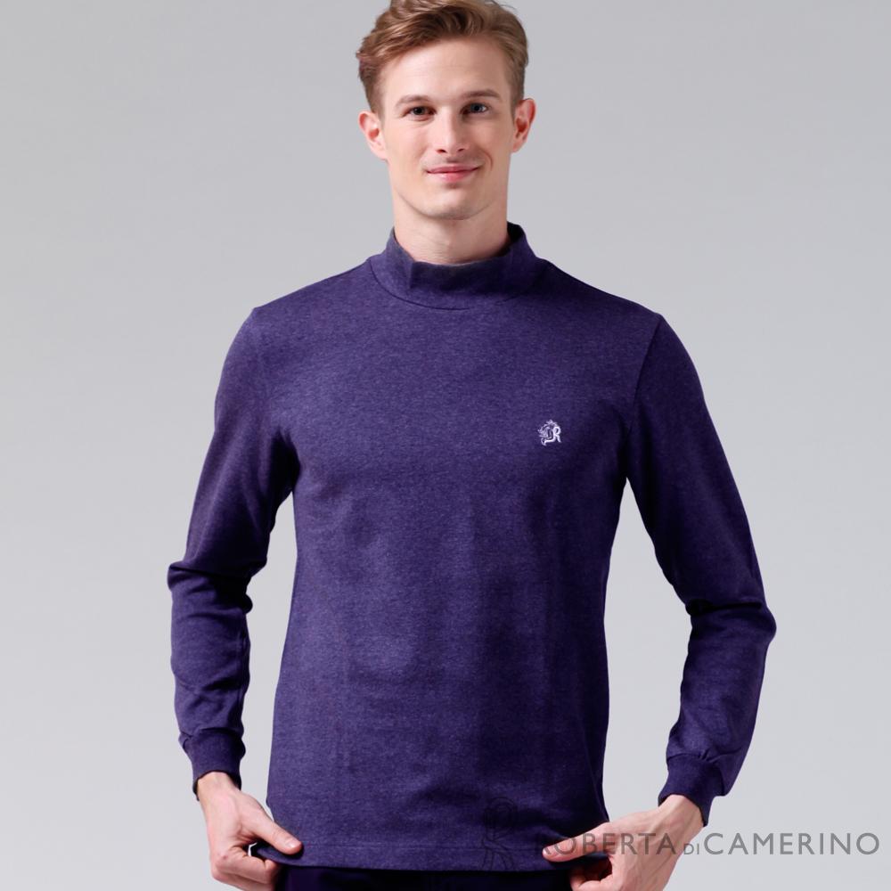 ROBERTA諾貝達 製  款 柔軟長袖POLO棉衫 紫色