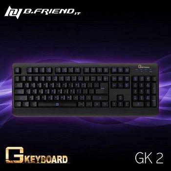 B.Friend GK2 超防水LED發光遊戲鍵盤 黑色