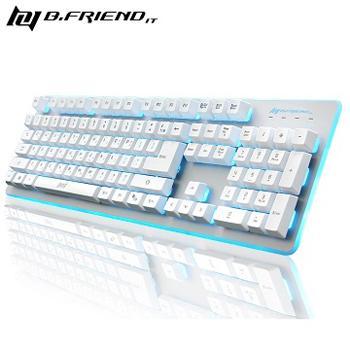 B.Friend GK3 七色發光電競懸浮 類機械式鍵盤 黑色 / 白色