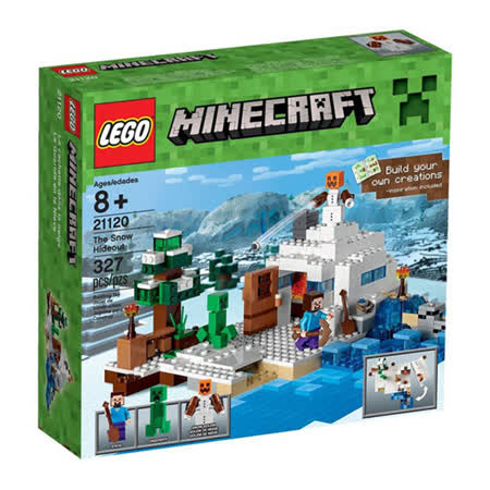 【LEGO樂高積木】Minecraft創世神系列-The Snow Hideout LT 21120