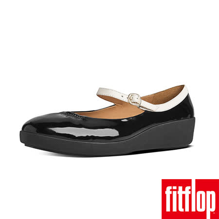 FitFlop™-(女款)F-POP™ MARY JANE-黑/白