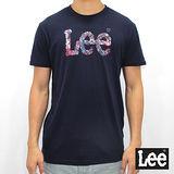 Lee 短袖T恤 哈日風格logo印刷 -男款-深藍色