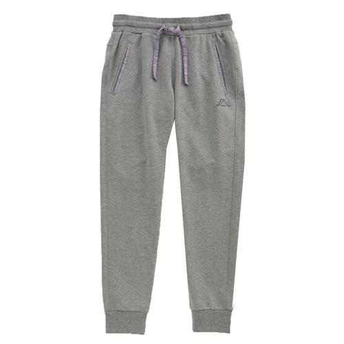 KAPPA義大利 舒適尚女針織慢跑長褲~灰 亮萄紫
