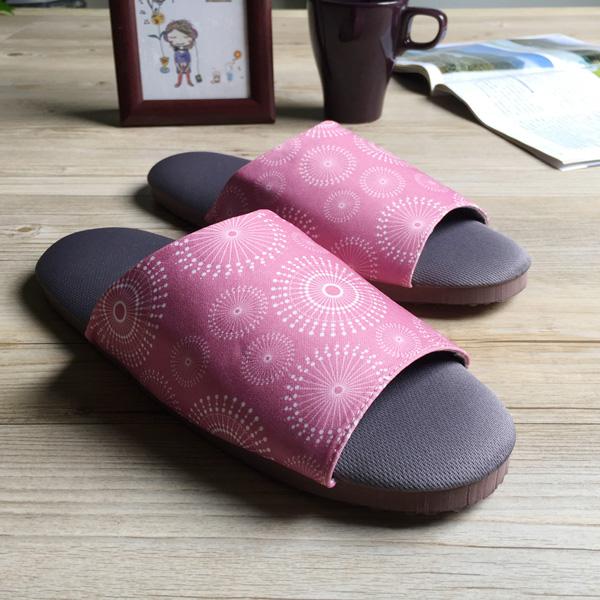 ~療癒系~森活布質室內拖鞋~花火~微光紫