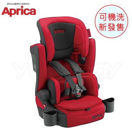 愛普力卡 Aprica 頭等艙 成長型輔助汽車安全座椅 AirGroove Plus 可機洗限定版-紅色旋風