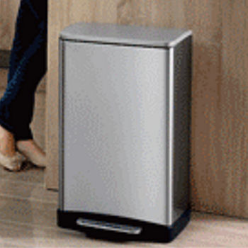 EKO逸酷靜音緩降垃圾桶12L-鈦金灰