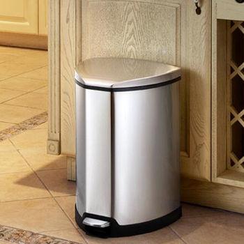 EKO格雷斯靜音緩降垃圾桶12L-砂鋼
