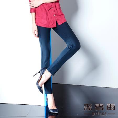 【麥雪爾】蕾絲口袋彈性棉質長褲(共二色)