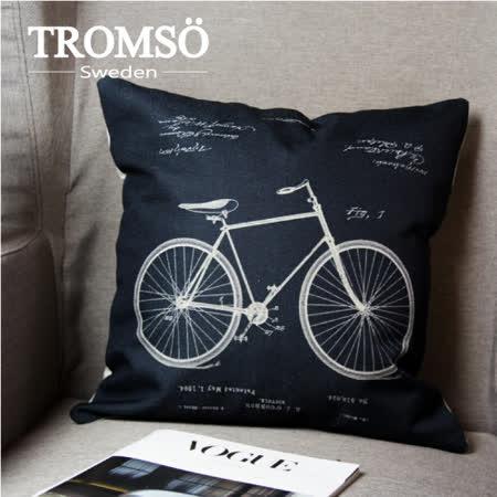 TROMSO-品味英倫棉麻抱枕/復古單車