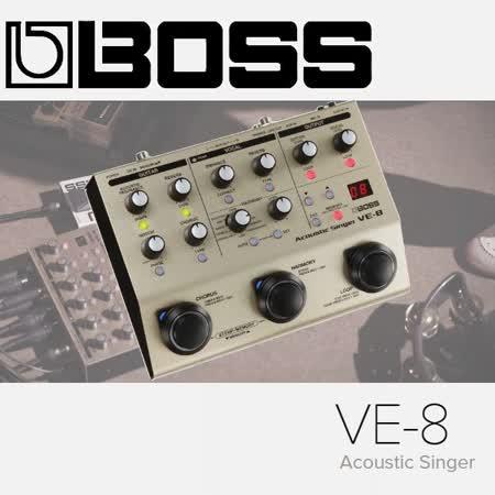 【BOSS】VE-8 Acoustic Singer 人聲 / 木吉他 / 效果器 / 公司貨保固