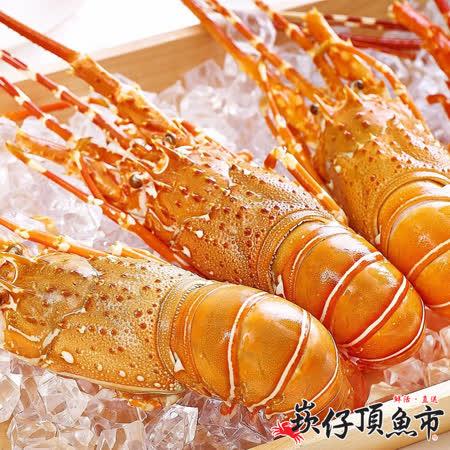 【崁仔頂魚市】極鮮熟凍大龍蝦2件組(500g/隻)