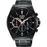 ALBA 專屬於你限量東京計時腕錶-黑/44mm VD53-X255SD(AT3A63X1)