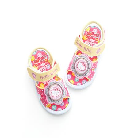 2014款(14-19cm) Hello Kitty 可愛蝴蝶結系列輕量黏扣帶休閒電燈涼鞋 814630-桃