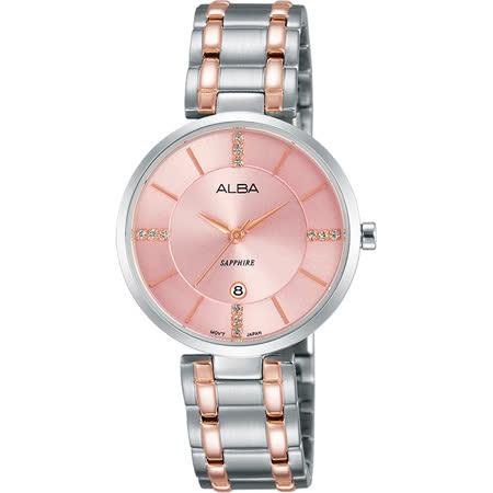 ALBA 專屬於妳限量東京石英女錶-粉x雙色/30mm VJ22-X236P(AH7L27X1)