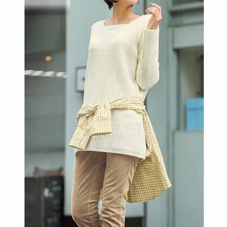 日本Portcros 預購-V領針織長版上衣(共四色)