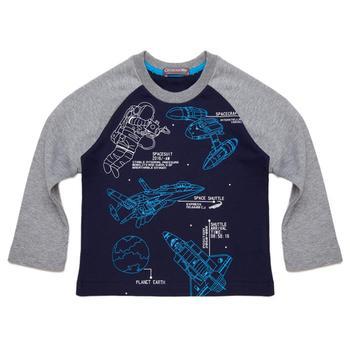 『小鱷魚童裝』太空人印圖T恤(02號~10號)560403