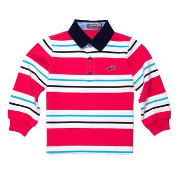 『小鱷魚童裝』男童活潑亮色條紋POLO衫(02號~10號)366101