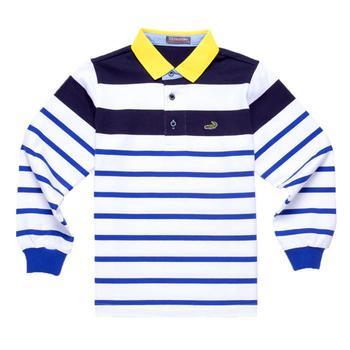 『小鱷魚童裝』男童條紋配色POLO衫(08號~10號)336104