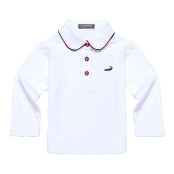 『小鱷魚童裝』白色時尚POLO衫(08號~10號)336150